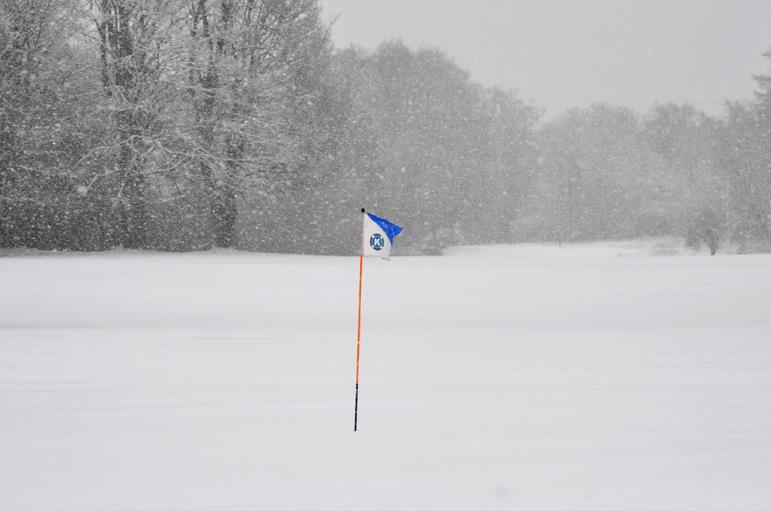 Image result for golf course in the snow
